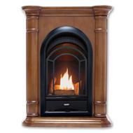 HearthSense Dual Fuel Ventless Gas Fireplace - 15,000 BTU, T-Stat Control, Walnut Finish, Model HS150T-T-W (179244)