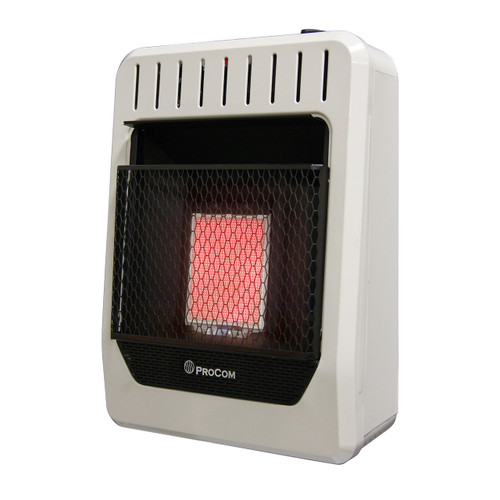 ProCom Heating Natural Gas Ventless Infrared Plaque Heater - 10,000 BTU, Model# MN1PHG (110119)