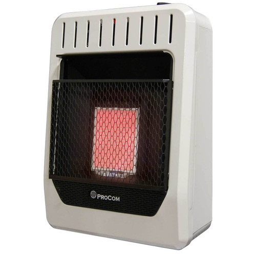 ProCom Heating Dual Fuel Ventless Infrared Plaque Heater - 10,000 BTU, Model# MG1TIR (110110)