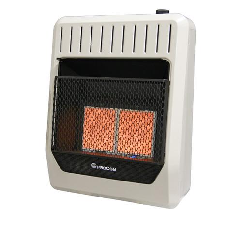 ProCom Heating Dual Fuel Ventless Infrared Plaque Heater - 20,000 BTU, Model# MG2TIR (110108)