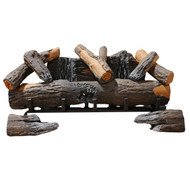 "Cedar Ridge Hearth 24"" Decorative Realistic Fireplace Ceramic Wood Log Set - Model CRHED24RT-D (190066)"