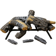 "Cedar Ridge Hearth 24"" Decorative Realistic Fireplace Ceramic Wood Log Set - Model CRHWV24RP-D (190068)"