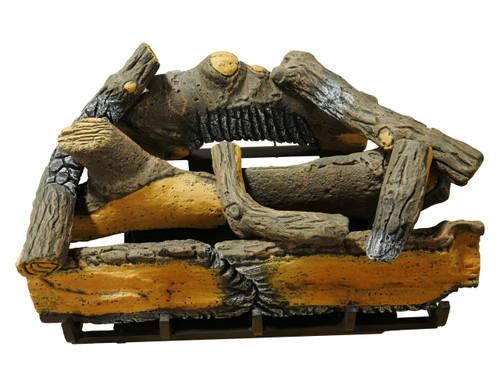 "Cedar Ridge Hearth 24"" Decorative Realistic Fireplace Ceramic Wood Log Set - Model CRHD24T-D (190065)"