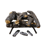 "Cedar Ridge Hearth 18"" Decorative Realistic Fireplace Ceramic Wood Log Set - Model CRHEAV18RP-D"