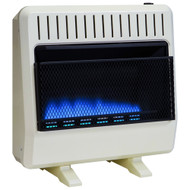 Avenger Dual Fuel Ventless Blue Flame Gas Space Heater With Blower and Base - 30,000 BTU, T-Stat Control - Model# FDT30BF (110011)