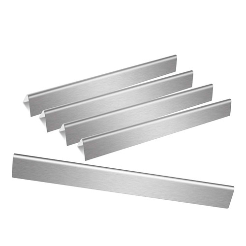 Avenger 7536 Universal Stainless Steel Flavorizer Bars 22.6 inches, Heat Plates/Tent Shield Replacement for Weber Spirit 300 Series, E310, E320, Genesis Silver B C, Gold - Set of 5 (140224) -Front