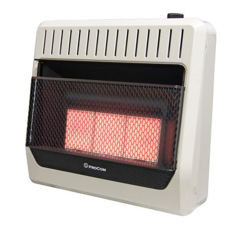 ProCom Recon Dual Fuel Vent Free Infrared Wall Heater, 30K BTU, T-Stat Control - Model# MG3TIR-R