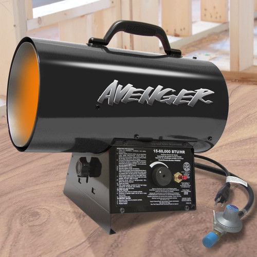 Avenger Reconditioned Portable Forced Air Propane Heater - 60,000 BTU , FBDFA60V-R