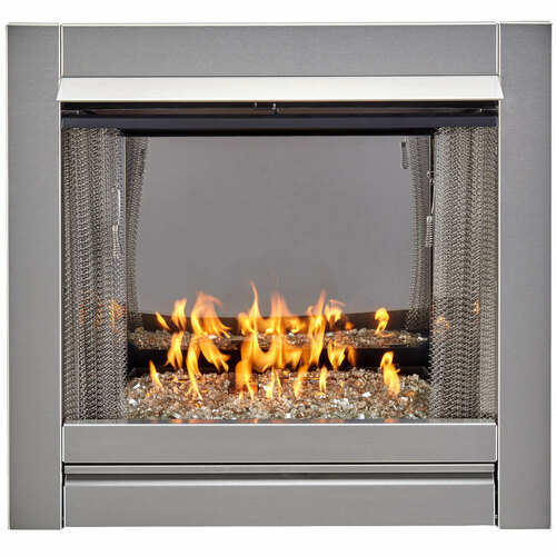 DF450SS-G Stainless Steel Outdoor Gas Fireplace Insert