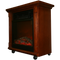 "20"" Compact Oak Electric Fireplace With Caster Wheels - Angle View"