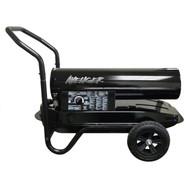 Avenger Kerosene Outdoor Heater - 125,000 BTU Thermostat and Flat-free wheels.