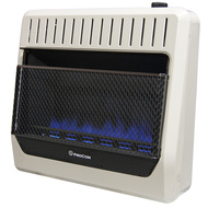 ProCom Ventless Dual Fuel Blue Flame Wall Heater Thermostat Control – 30,000 BTU, Model# MG30TBF-R (200110)