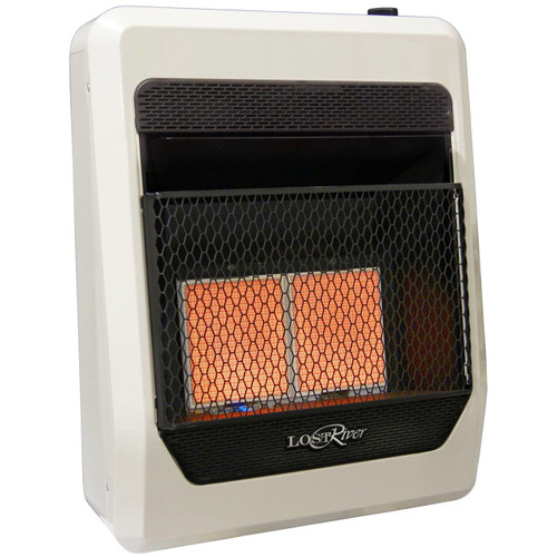 Lost River Liquid Propane Gas Ventless Infrared Radiant Plaque Heater - 18,000 BTU, Model# LR2TIR-LP (110089)