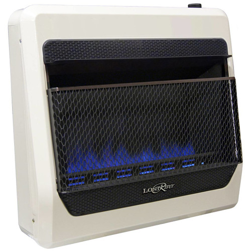 Lost River Liquid Propane Gas Ventless Blue Flame Gas Space Heater - 30,000 BTU, Model# LRT30B-LP (110097)