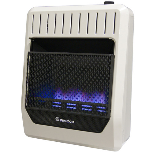 ProCom Ventless Dual Fuel Blue Flame Thermostat Control Wall Heater -20,000 BTU – 20,000 BTU, Model# MG20TBF (110124)