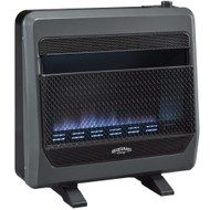 Bluegrass Living Natural Gas Vent Free Blue Flame Gas Space Heater With Blower and Base Feet - 30,000 BTU, T-Stat Control - Model# B30TNB-BB