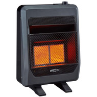 Bluegrass Living Natural Gas Vent Free Infrared Gas Space Heater With Blower and Base Feet - 20,000 BTU, T-Stat Control - Model# B20TNIR-BB