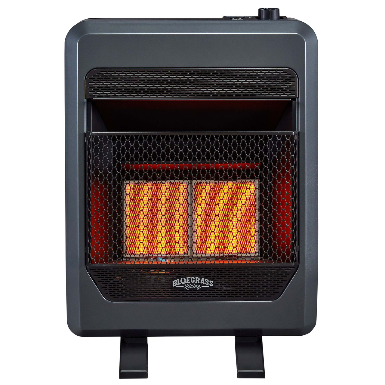 Bluegrass Living Propane Gas Vent Free Infrared Gas Space Heater With Blower And Base Feet 18 000 Btu T Stat Control Model B18tpir Bb Factory Buys Direct