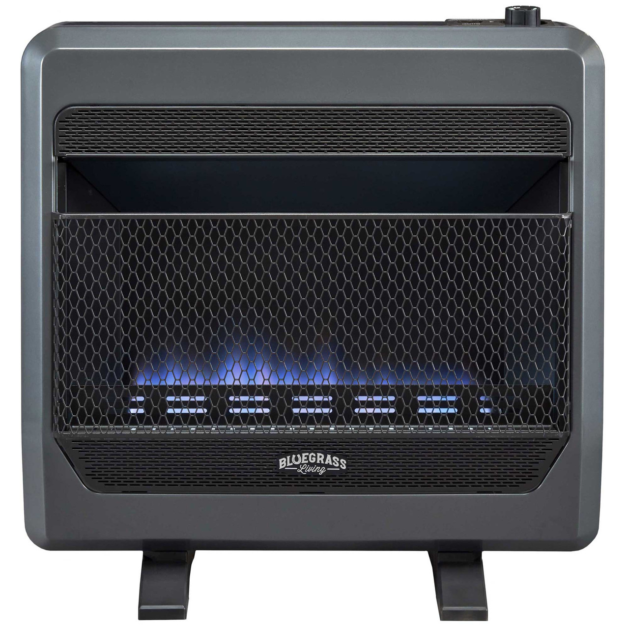 Bluegrass Living Propane Gas Vent Free Blue Flame Gas Space Heater With Blower And Base Feet 30 000 Btu T Stat Control Model B30tpb Bb Factory Buys Direct
