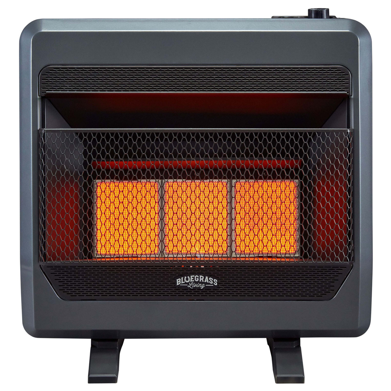 Bluegrass Living Natural Gas Vent Free Infrared Gas Space Heater With Blower And Base Feet 30 000 Btu T Stat Control Model B30tnir Bb Factory Buys Direct