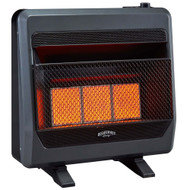 Bluegrass Living Propane Gas Vent Free Infrared Gas Space Heater With Blower and Base Feet - 28,000 BTU, T-Stat Control - Model# B28TPIR-BB