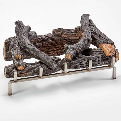 Designed to be used with our stainless-steel outdoor fireplace insert, this log set adds a more traditional design to the outdoor fireplace by highlighting realistic looking wood elements as the main focus.