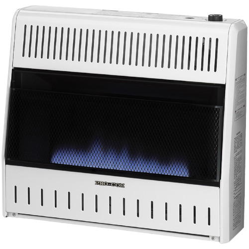 ProCom MD300TBA-R, Reconditioned Vent Free Indoor Space Heater 30,000 BTU, Two-Step Dual Fuel Propane and Natural Gas, Blue Flame Thermostat Control (MA Series)