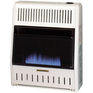 ProCom Heating Ventless Liquid Propane Gas Blue Flame Space Heater - 20,000 BTU, Manual Control