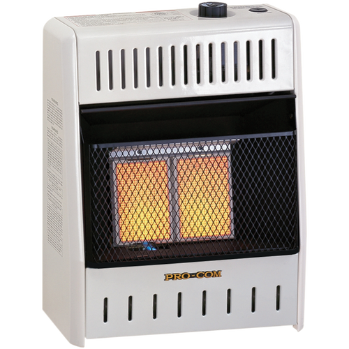 ProCom's Infrared Plaque Ventless Gas Space Heaters make supplemental heating fast and easy! Just push a button for easy ignition, stand back and enjoy a great source of dependable, affordable heat. These infrared plaque heaters works just like the sun's radiant heat, warming objects in the room first!