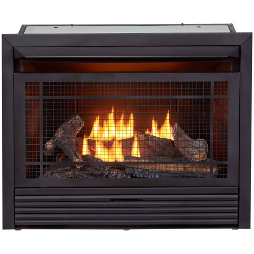 Duluth Forge Reconditioned Dual Fuel Ventless Gas Fireplace Insert - 26,000 BTU.