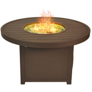 Bluegrass Living 42 Inch Outdoor Round Aluminum 50,000 BTU Propane Fire Pit Table with Crystal Glass Beads and Fabric Cover - Model# GN3R111S