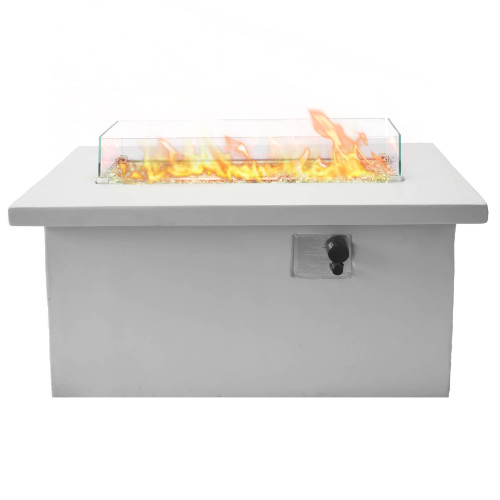 Bluegrass Living 42 Inch x 20 Inch Rectangular MGO Propane Fire Pit Table.