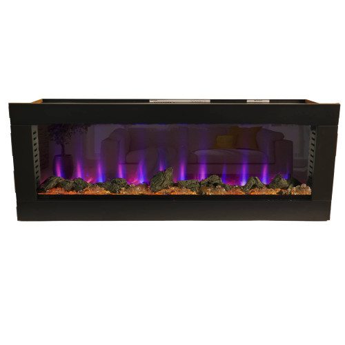 Bluegrass Living 50 Inch See Through Electric Fireplace.