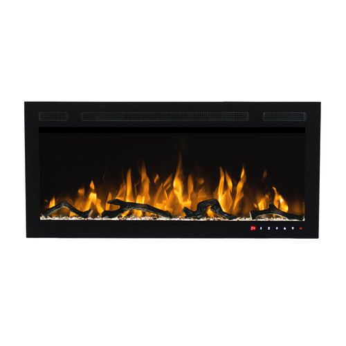Bluegrass Living Slimline 36 Inch Wall Mount and Recessed Electric Fireplace.