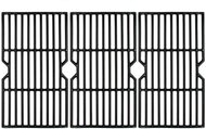 "Avenger 66123 16 15/16"" Porcelain Coated Cast Iron Grill Grates for Charbroil Advantage 463343015, 463344015, 463344116, Kenmore, Broil King Gas Grill, G467-0002-W1 - Set of 3"