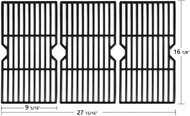 Avenger 16 7/8'' 68763 Polished Porcelain Coated Cast Iron Grill Grates Replacement for Charbroil 463436213, 463436214, 463436215, 463420508, 463420509, 463440109, 463441312, 463441514 Grills, - Set of 3
