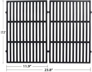"Avenger 7638 17.5"" Porcelain Coated Cast Iron Grill Grates Replacement for Weber Spirit 300 Series Spirit E310 Spirit 310, for Weber Genesis Silver & Gold Series - Set of 2"