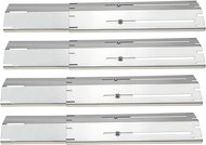 "Avenger 84004SS Universal Fit Adjustable Stainless Steel Heat Plate, Extends 11.75""L to 21""L Heat Shield, Flavorizer Bar, Replacement for Brinkmann Grills- Set of 5"
