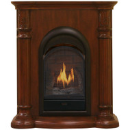 Bluegrass Living Vent Free Natural Gas Fireplace System - 10,000 BTU, T-Stat Control, Cherry Finish - Model# B100TN-FCC