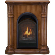 Bluegrass Living Vent Free Natural Gas Fireplace System - 10,000 BTU, T-Stat Control, Light Maple Finish.