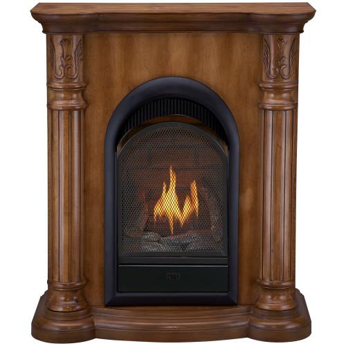 Bluegrass Living Vent Free Propane Gas Fireplace System - 10,000 BTU, T-Stat Control, Light Maple Finish