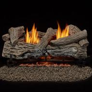 Bluegrass Living Vent Free Natural Gas Log Set - 24 Inch Traditional Oak, 32,000 BTU, Remote Control.