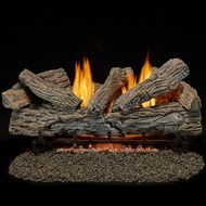 Bluegrass Living Vent Free Propane Gas Log Set - 30 Inch Traditional Oak, 32,000 BTU, Remote Control.