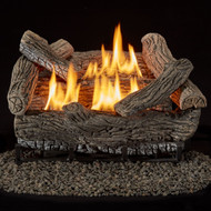 Bluegrass Living Vent Free Natural Gas Log Set - 18 Inch Traditional Oak, 30,000 BTU, Remote Control - Model# B18NR-UL1