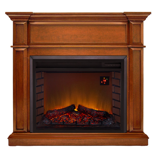 Duluth Forge Full Size Electric Fireplace - Remote Control, Apple Spice Finish.