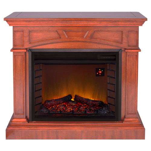 Duluth Forge Full Size Electric Fireplace - Remote Control, Heritage Cherry Finish.