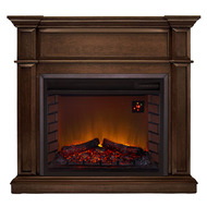 Duluth Forge Full Size Electric Fireplace - Remote Control, Gingerbread Finish - Model# EL1350-3-G