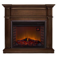 Duluth Forge Full Size Electric Fireplace - Remote Control, Gingerbread Finish.