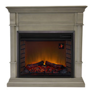 Duluth Forge Full Size Electric Fireplace - Remote Control, Gray Finish.