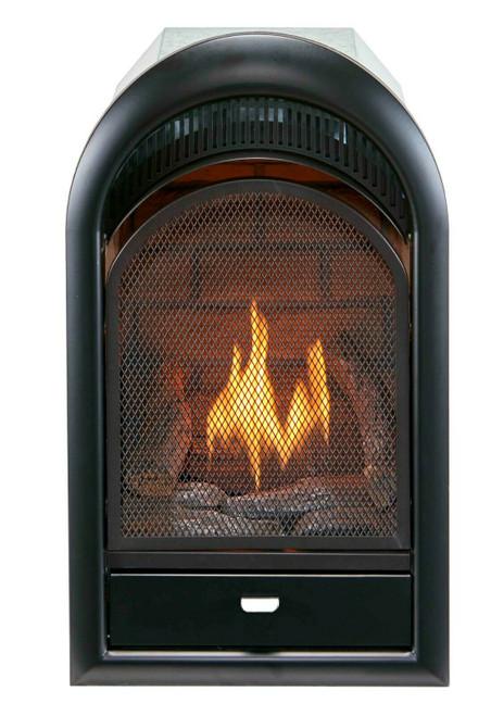 Bluegrass Living Vent Free Natural Gas Fireplace Insert - 10,000 BTU, T-Stat Control, Zero Clearance Design.